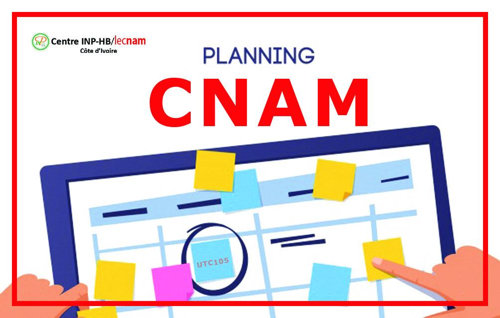 [PLANNING CNAM] Semaine 29-04 Mai 2019
